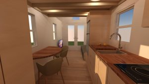 tiny home dining and front room